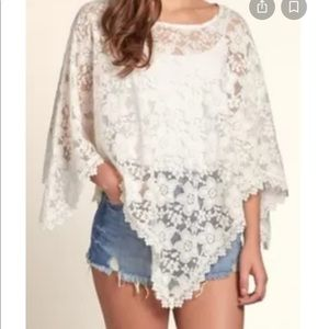 Hollister Lace Pancho